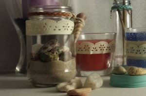 close up view of the themed jar