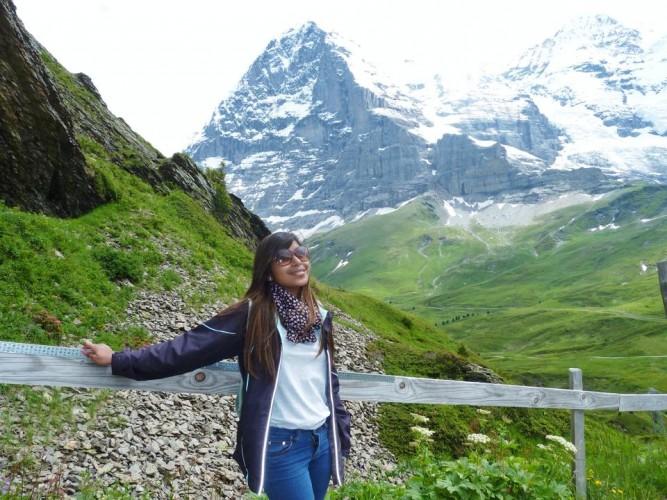 the beautiful green valley - Kleine Scheidegg