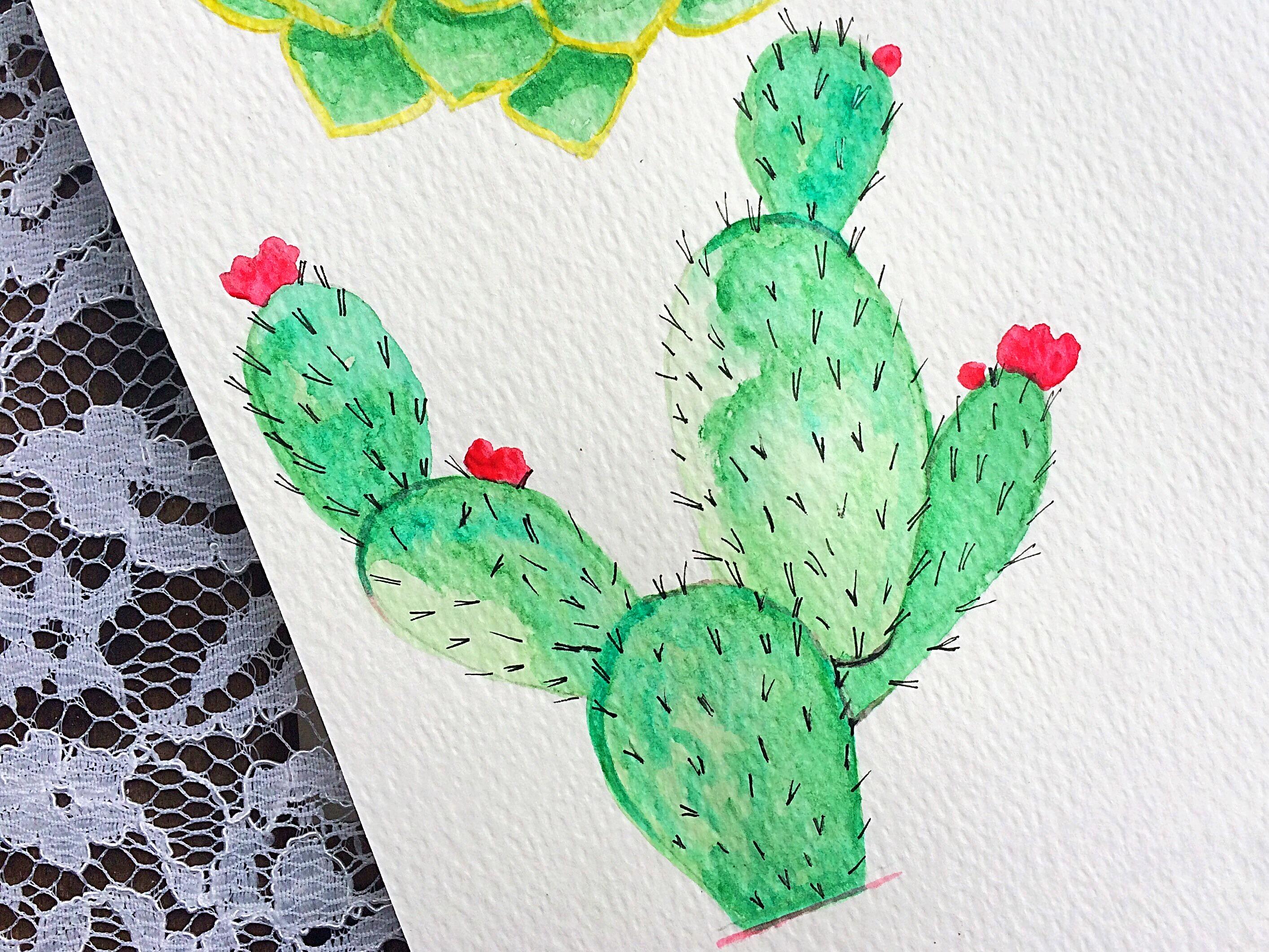 Watercolor succulent tutorialPart 2Life-athon