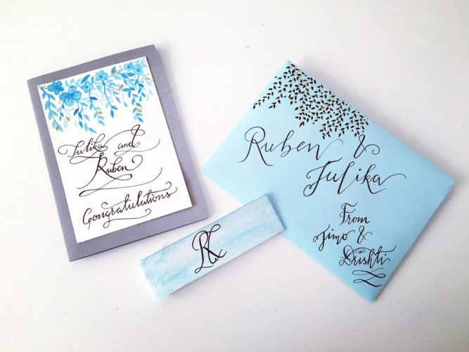 Calligraphy greetings card