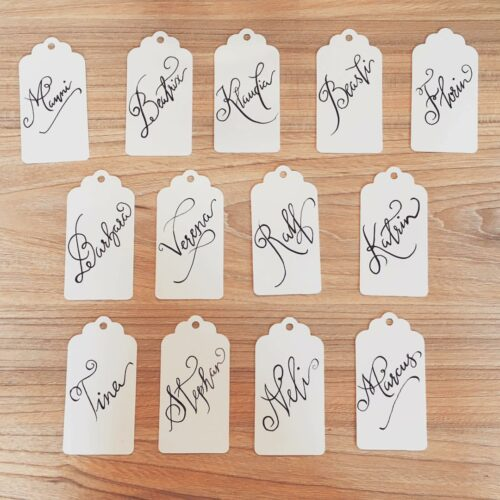 Name tags for Wedding at Vonrock