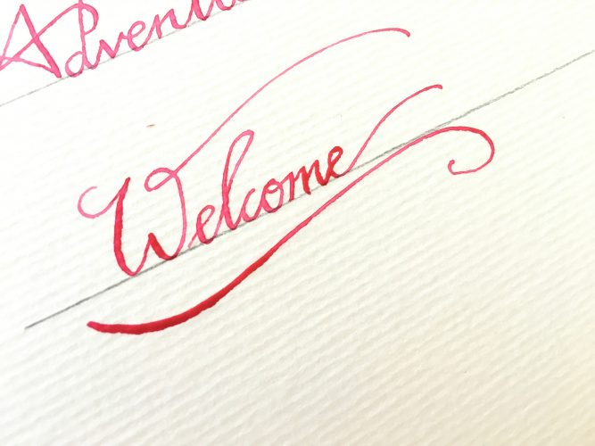 watercolor dip pen calligraphy2