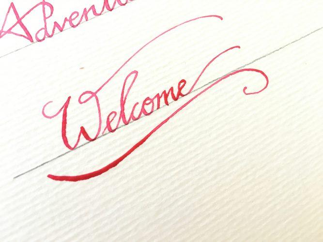 watercolor dip pen calligraphy2