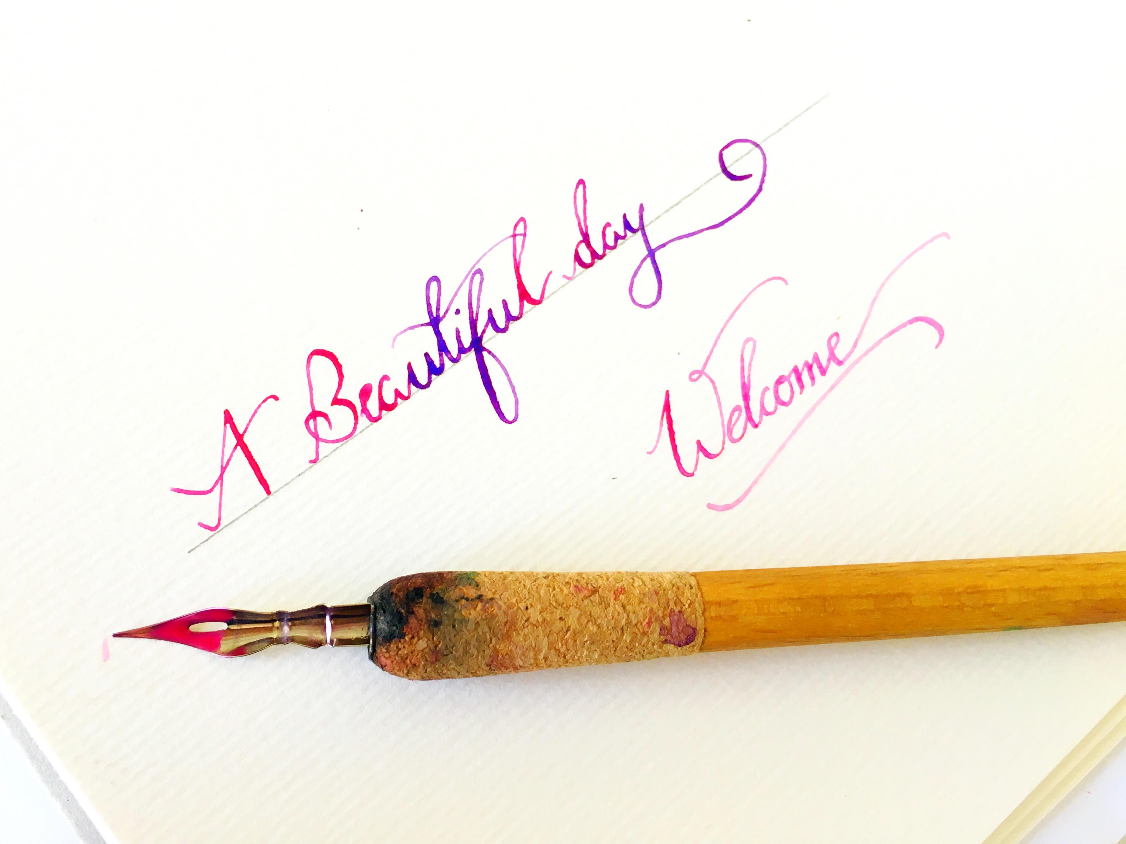 Watercolor Dip Pen Calligraphy Tutorial Life Athon