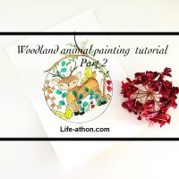 woodland animal painting