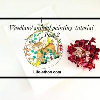 woodland animal painting