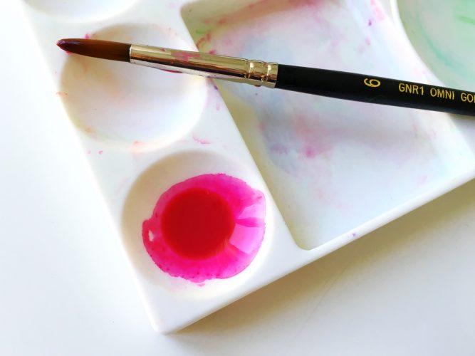Watercolor dip pen calligraphy